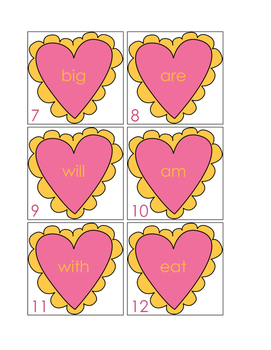 Valentine's Day Sight Word Write The Room