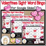 Valentine's Day Sight Words Bingo Game Bundle for Google Slides™