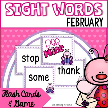 Valentine's Day Sight Words Flash Cards and Game (February)
