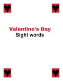 Valentine's Day Sight Words - Literacy Center Word Work