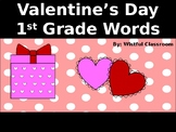 First Grade Words PPT Game - Valentine's Day