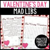 Valentine's Day Parts of Speech Silly Stories Grammar Activity