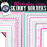 Valentine's Day Borders | Skinny Border Color Clipart