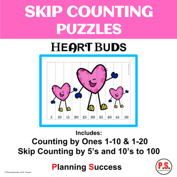 Valentine's Day - Skip Counting Puzzles