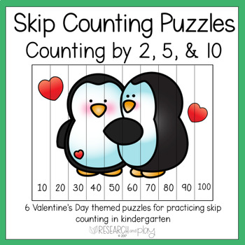 Valentine's Day Skip Counting Puzzles