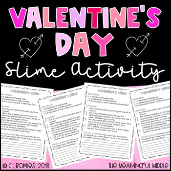 Valentine's Day Slime Activity