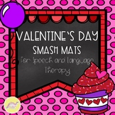 50% off for 24 hours- Valentine's Day Smash Mats for Speec