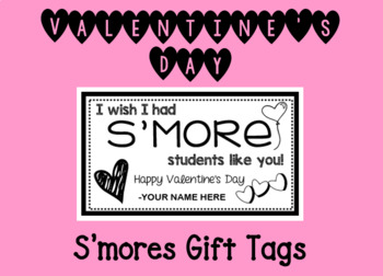 Valentine's Day Smore Gift Tags
