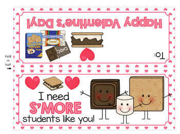 Valentine's Day Smores Bag Topper - Make a Super Fun Treat for your Students!