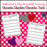 Valentine's Day Snowball Character Traits Activity