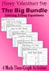 Valentine's Day - Solve 2-Step Eqs - 14 Math-Then-Graph Activities - Big Bundle