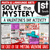 Valentine's Day Solve the Mystery Math & ELA Task Card Activity