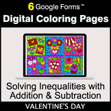 Valentine's Day: Solving Inequalities with Addition & Subt