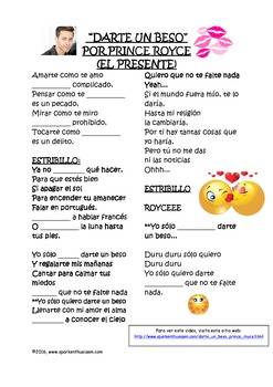 Valentine's Day Songs in Spanish with Lyrics, Cloze Activities and Video Links