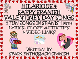 Valentine's Day Songs in Spanish with Lyrics, Cloze Activi