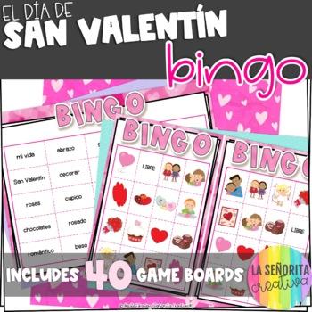 Valentine's Day Spanish Bingo Game - el Día de San Valentín Bingo