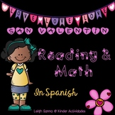 Valentine's Day Spanish Language Arts & Math Packet