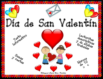 Valentine's Day Spansih Writing Reading Math Bilingual Stars Mrs. Partida