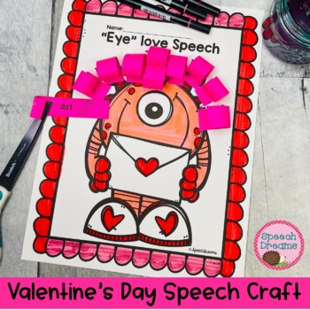 valentine 39 s day speech therapy craft craftivity by speech dreams. Black Bedroom Furniture Sets. Home Design Ideas