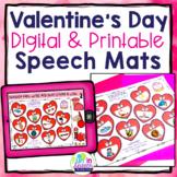 Valentine's Day Speech & Language Mats - Feb Speech Therapy Activity