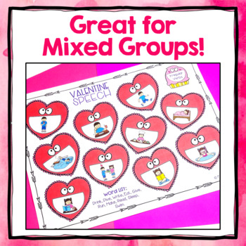 Valentine's Day Speech Therapy Activity Mats