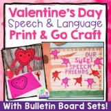 Valentine's Day Speech & Language Craft - Print & Go Speech Therapy Activity