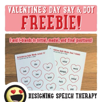 No-Prep Valentine's Day Speech FREEBIE