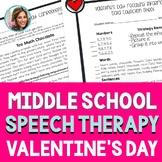 Valentine's Day Speech Therapy | Valentine's Day Speech and Language