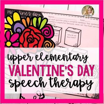Valentine's Day Speech Therapy Activities   Speech and Language Valentine's Day