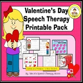 Valentine's Day Speech Therapy Printable Pack