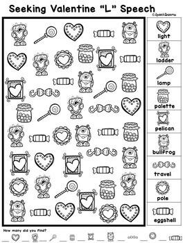 Valentine's Day Speech Therapy Seeking Activity {articulation}