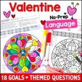 Valentine's Day Speech and Language Activities with Mandal