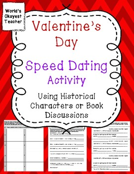 Valentine's Day Speed Dating Activity: Historical Characters or Book Discussion