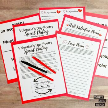 Valentines Day Speed Dating Poetry by Write and Read   TpT