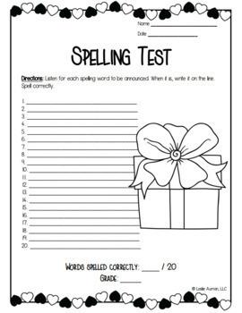 EDITABLE Valentine's Day Spelling Board