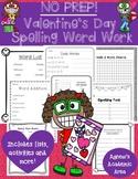 Valentine's Day Spelling Word Work ~NO PREP~