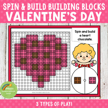 Valentine's Day Spin and Build Building Blocks