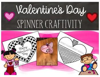 Valentine's Day Spinner Craftivity