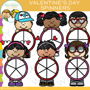 Spinners for Valentine's Day Clip Art