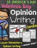 Valentine's Day St. Patrick's Day Opinion Writing