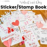 Valentine's Day Stamp and Sticker Book