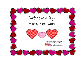 Valentine's Day Stamp the Word