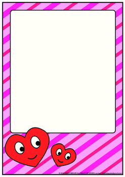 Valentine's Day Stationary Writing Paper