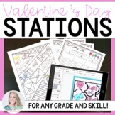 Valentine's Day Stations - Editable Template
