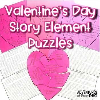 Valentine's Day Story Element Puzzles