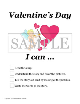 Valentine's Day Story that students can read, draw and re-create