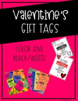 Valentine's Day Straw Gift Tags