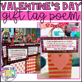 Valentine's Day Student Gift Tag Poem