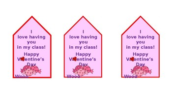Valentine's Day Student Gift Tags*****EDITABLE*****