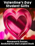 Valentine's Day Student Gifts- Coupon Book, Homework Passe
